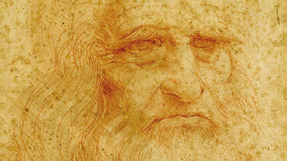Particolare dell'autoritratto di Leonardo conservato nella Biblioteca Reale di Torino