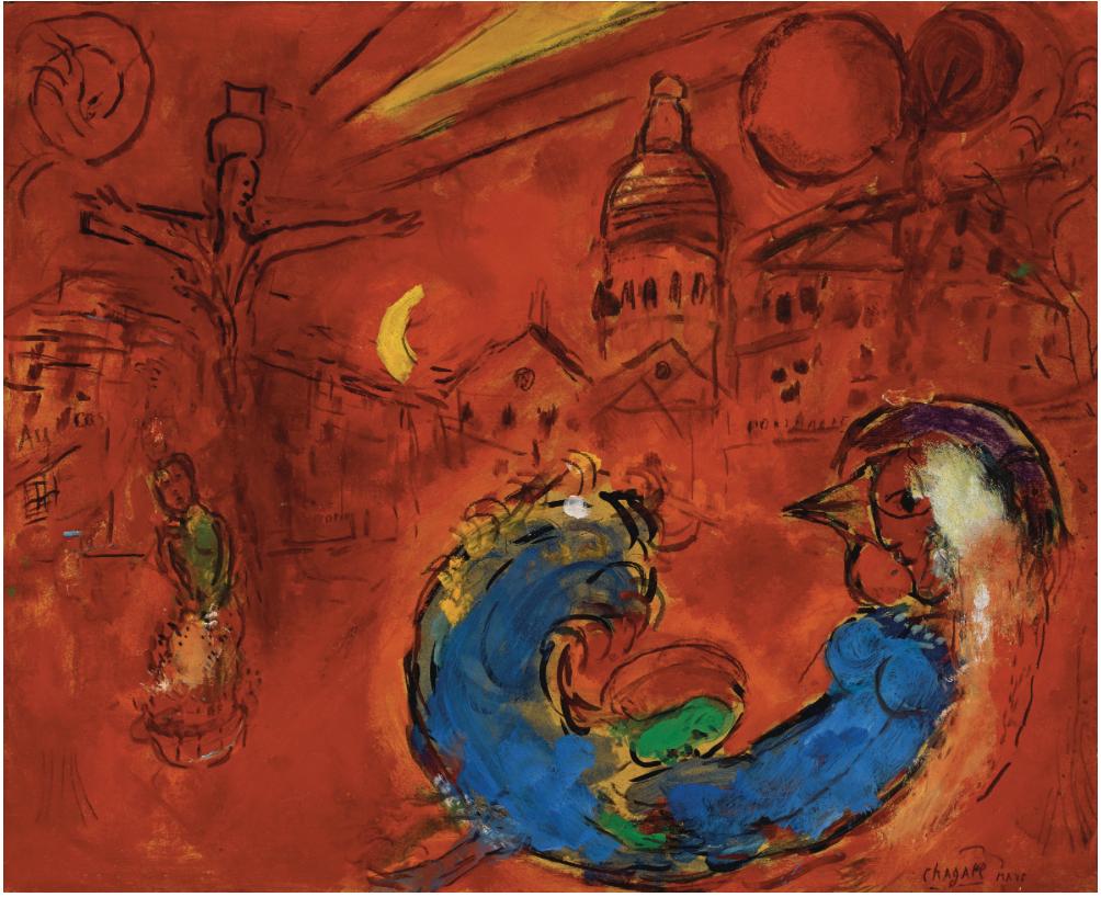 Marc Chagall, Place du Tertre, 1953-54, estimate €500,000-700,000 | Photo: Christie's