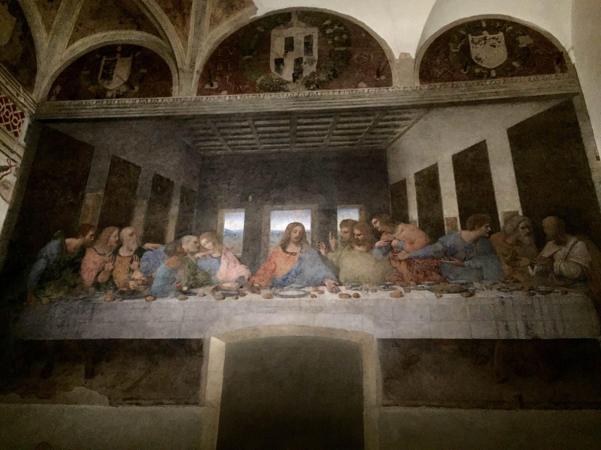 Leonardo da Vinci: prime idee (e disegni) per l'Ultima Cena. Immagini