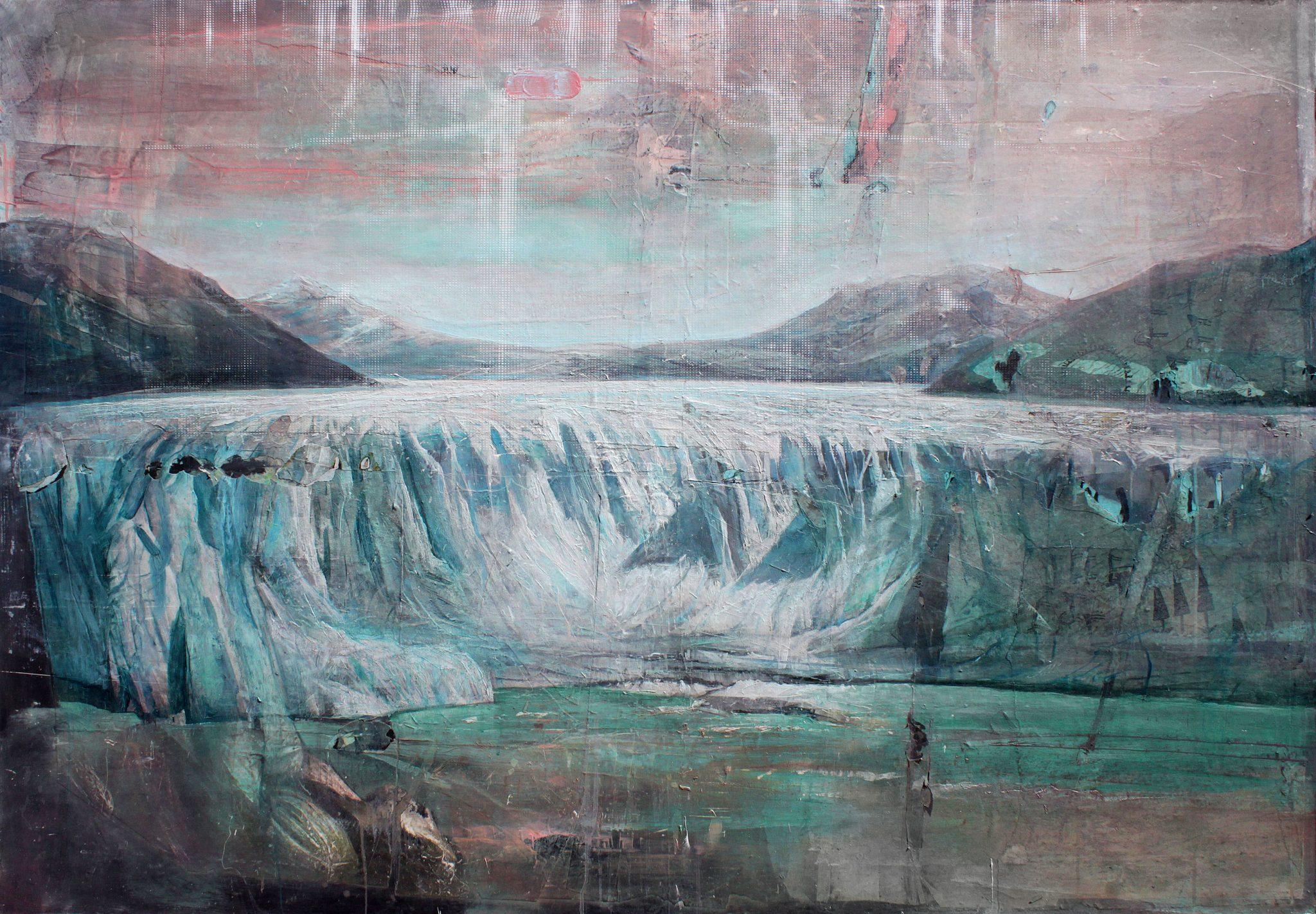 Andrea Mariconti, Anmla, 2018, tecnica mista su tela, cm 140 x 200_Courtesy Federico Rui Arte Contemporanea (Milano)
