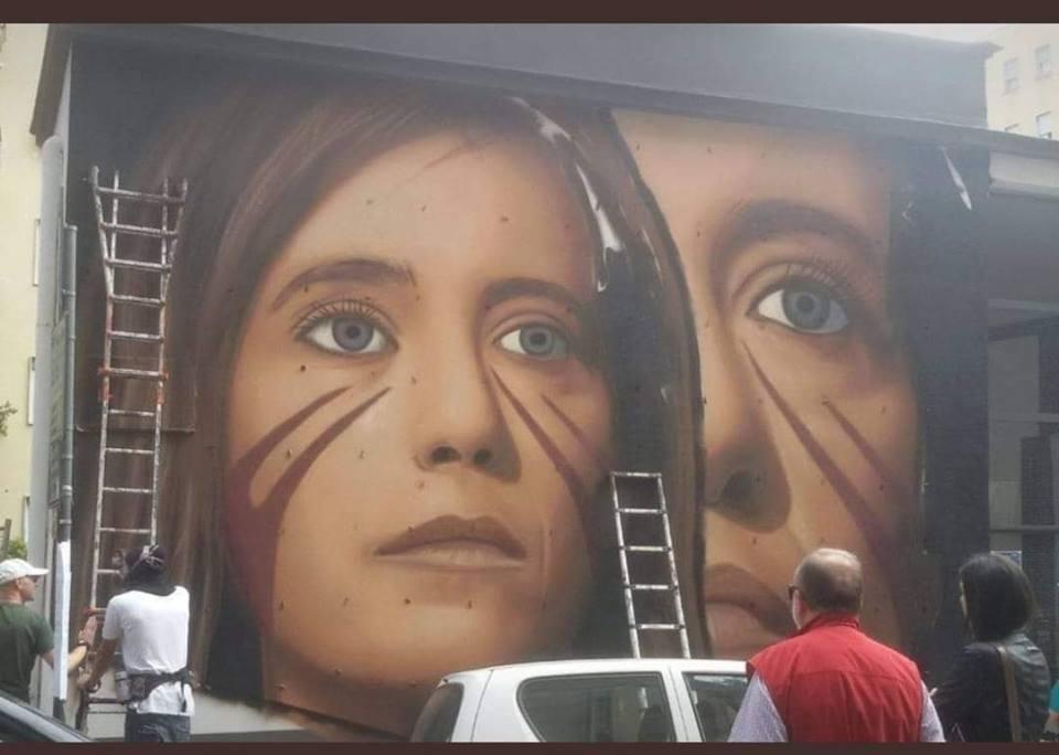 Napoli- Murale dedicato a Ilaria Cucchi dello Sreet Artist Jorit Foto della pagina facebook di 'Napoli Direzione Opposta'