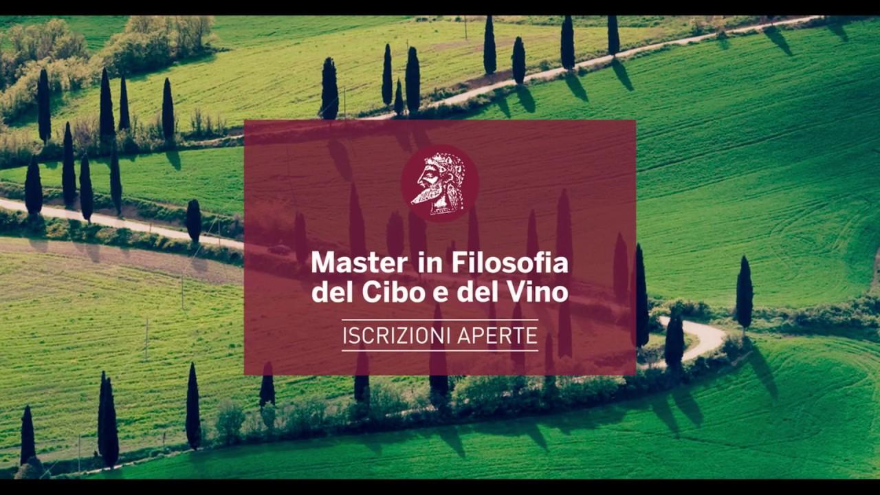 Master in Filosofia del cibo e del vino: iscrizioni aperte fino al 30 novembre 2018