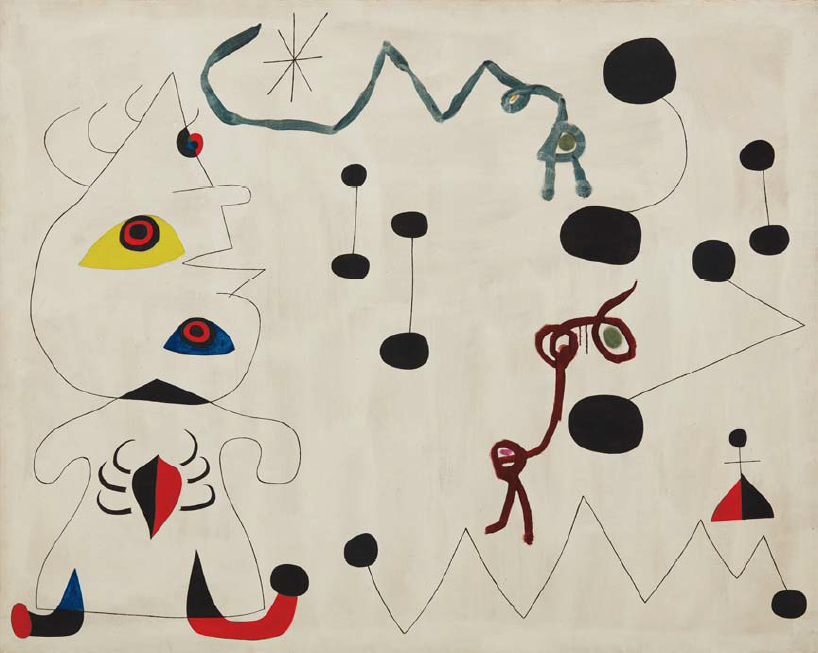 Joan Miró 1893-1983 Femme dans la nuit, 22 March 1945 130 x 162 cm Estimate: $12-18 million