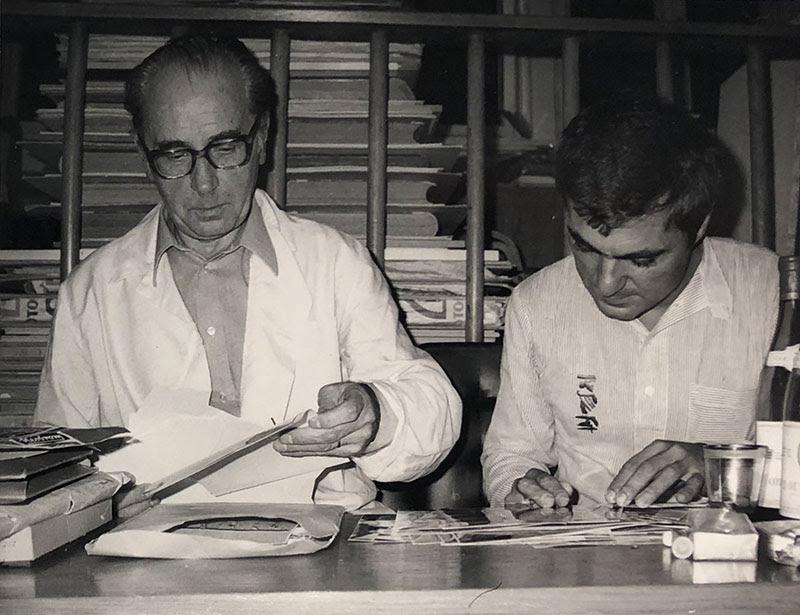 Giancarlo Politi nello studio di Jiri Kolar (Settembre 1976)