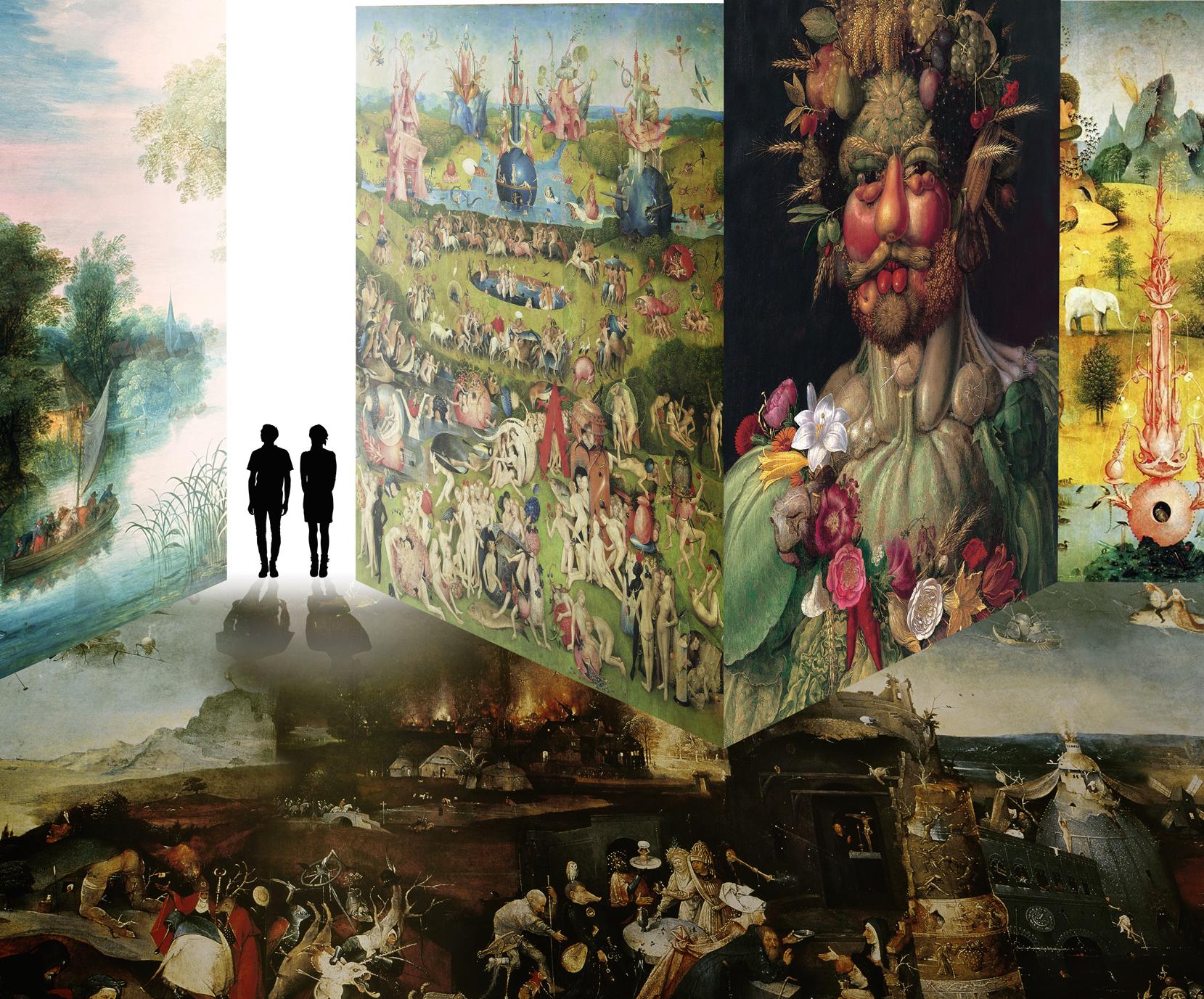Bosch, Brueghel, Arcimboldo; Pisa