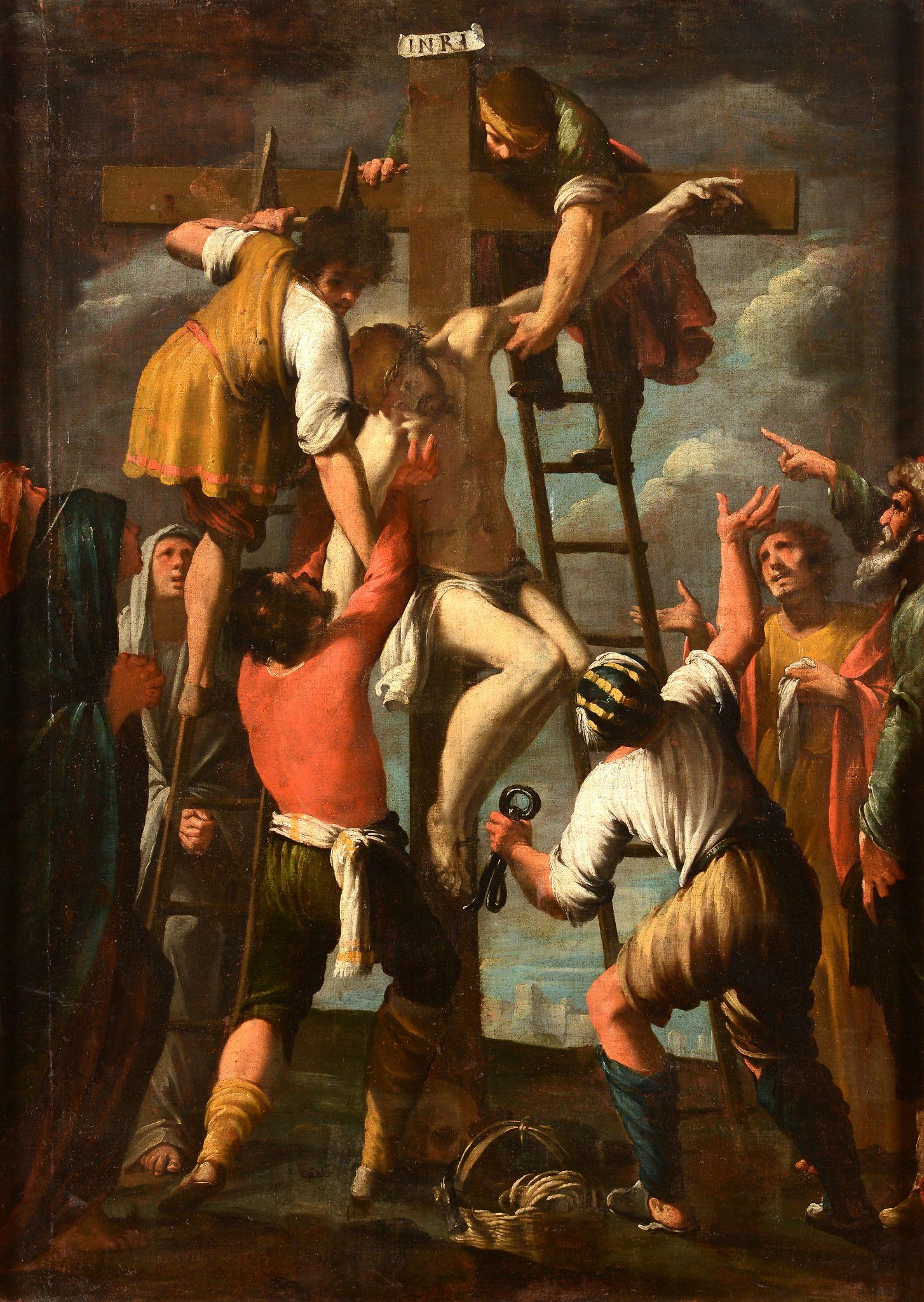 Lotto 85 Bernardo Strozzi (1581-1644) Deposizione olio su tela, cm 173x123 Stima € 40.000-60.000