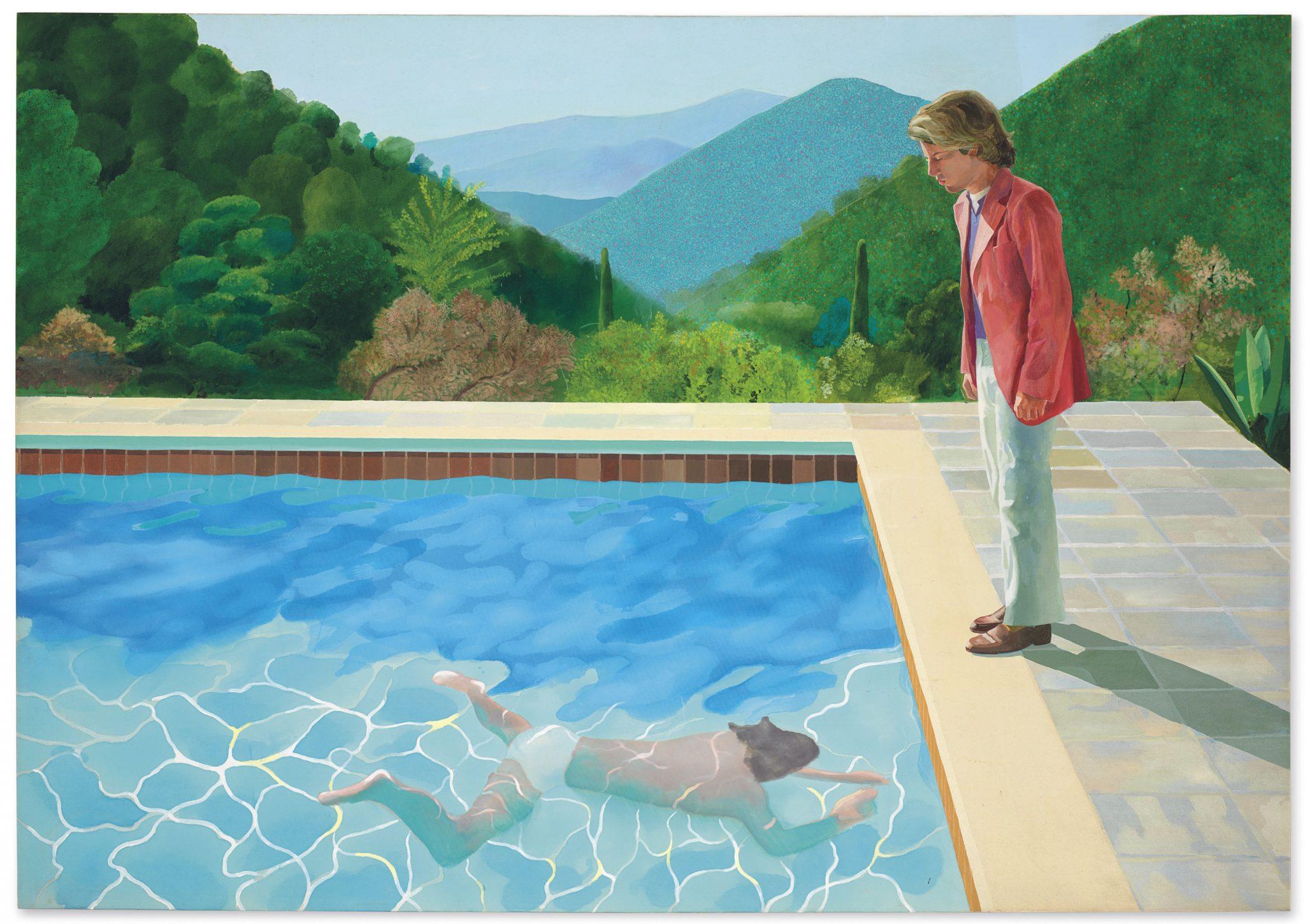 Un tuffo nell'oro per Hockney. Da Christie's a 90,3 mln$: è l'artista vivente più pagato