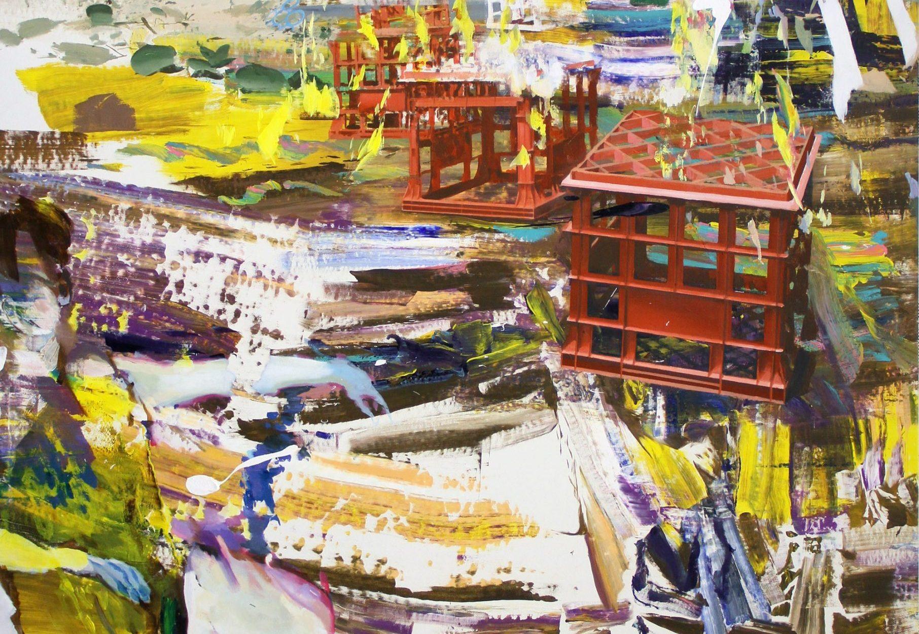 Giuseppe Gonella, Senza titolo, 2012, acrilico su tela, 200 x 180 cm