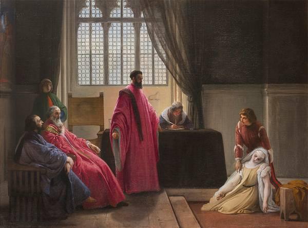 Hayez, Valenza Gradenigo davanti agli inquisitori