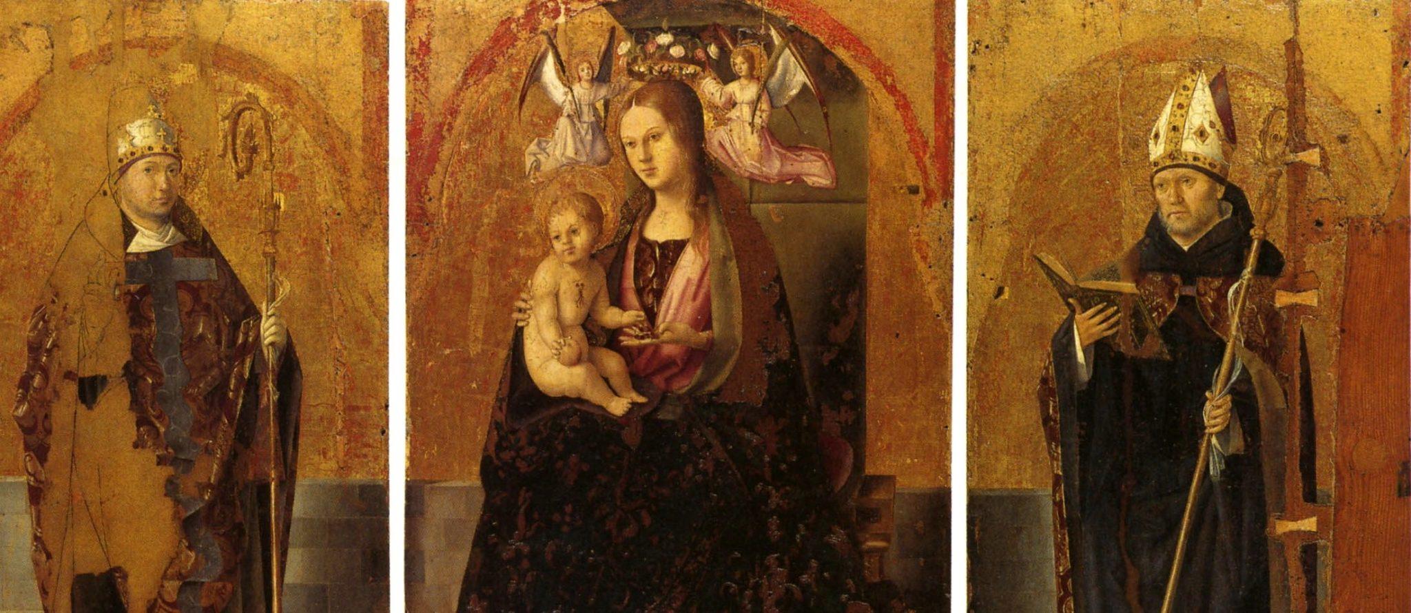 Il Polittico di San Gregorio di Antonello da Messina (particolare)