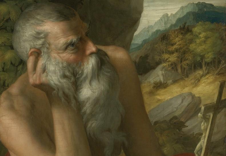 Il falso San Girolamo, venduto come Parmigianino (particolare)
