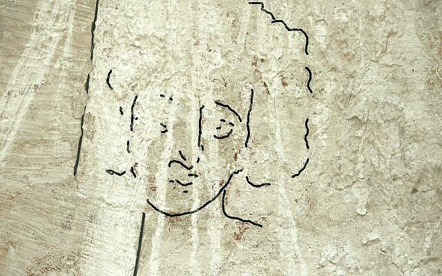 Ricostruzione del volto di Gesù individuato nella chiesa di Shivta (foto Timesofisrael)