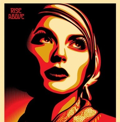 Shepard Fairey Rise Above Rebel 2011 60x45
