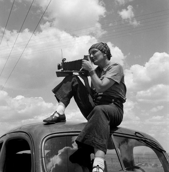 Dorothea Lange au Texas sur les Plaines Vers; Dorothea Lange