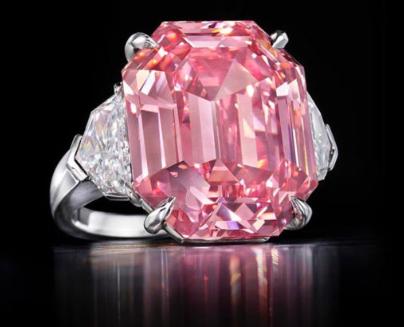 The Winston Pink Legacy. Diamante rosa venduto da Christie's a Ginevra.