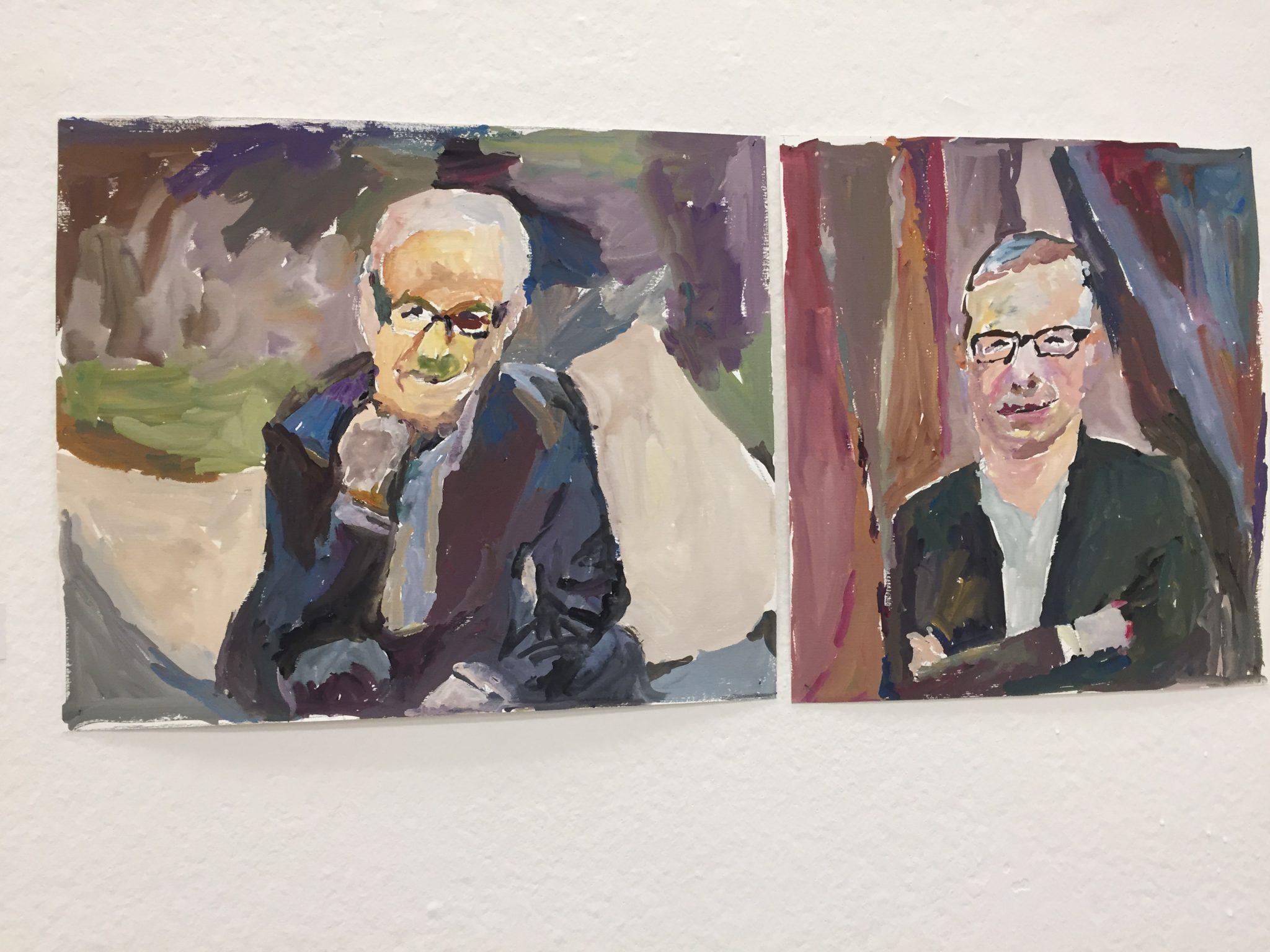 Visti da vicino. I 70 ritratti di Renato Barilli in mostra alla Permanente