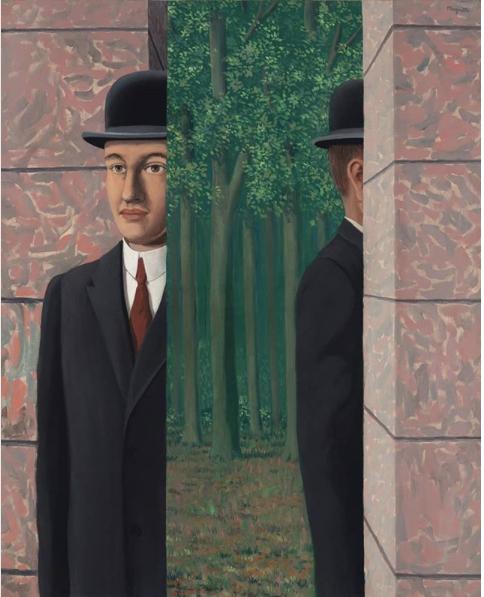 René Magritte, 'Le Lieu Commun', 1964. Olio su tela, 39 ⅜ x 31 ⅞ in. (100 x 81 cm.). Stima: £ 15.000.000-25.000.000