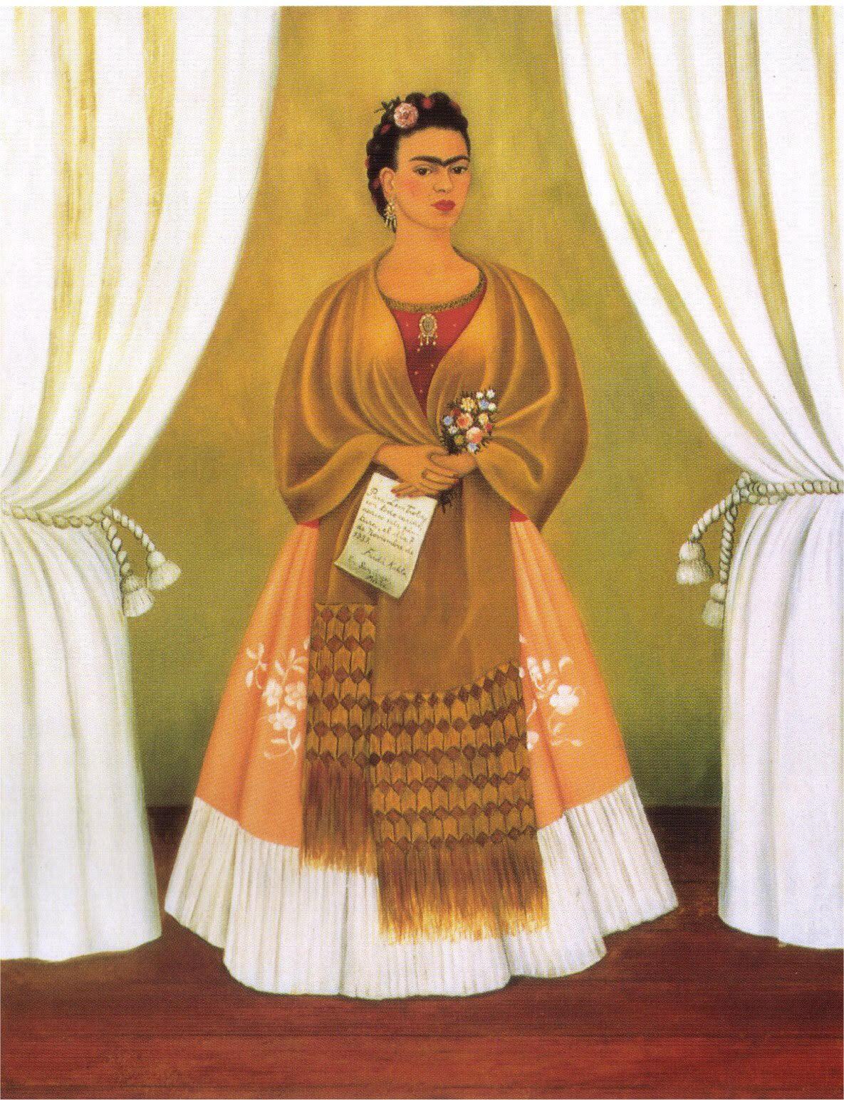 Self portrait dedicated to Leon Trotsky - Frida Kahlo