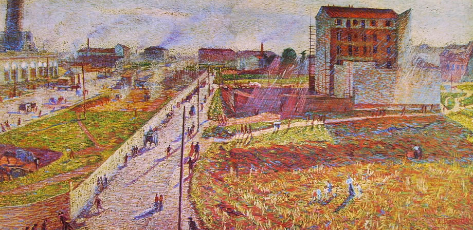 Officine a Porta Romana - Umberto Boccioni - 1910