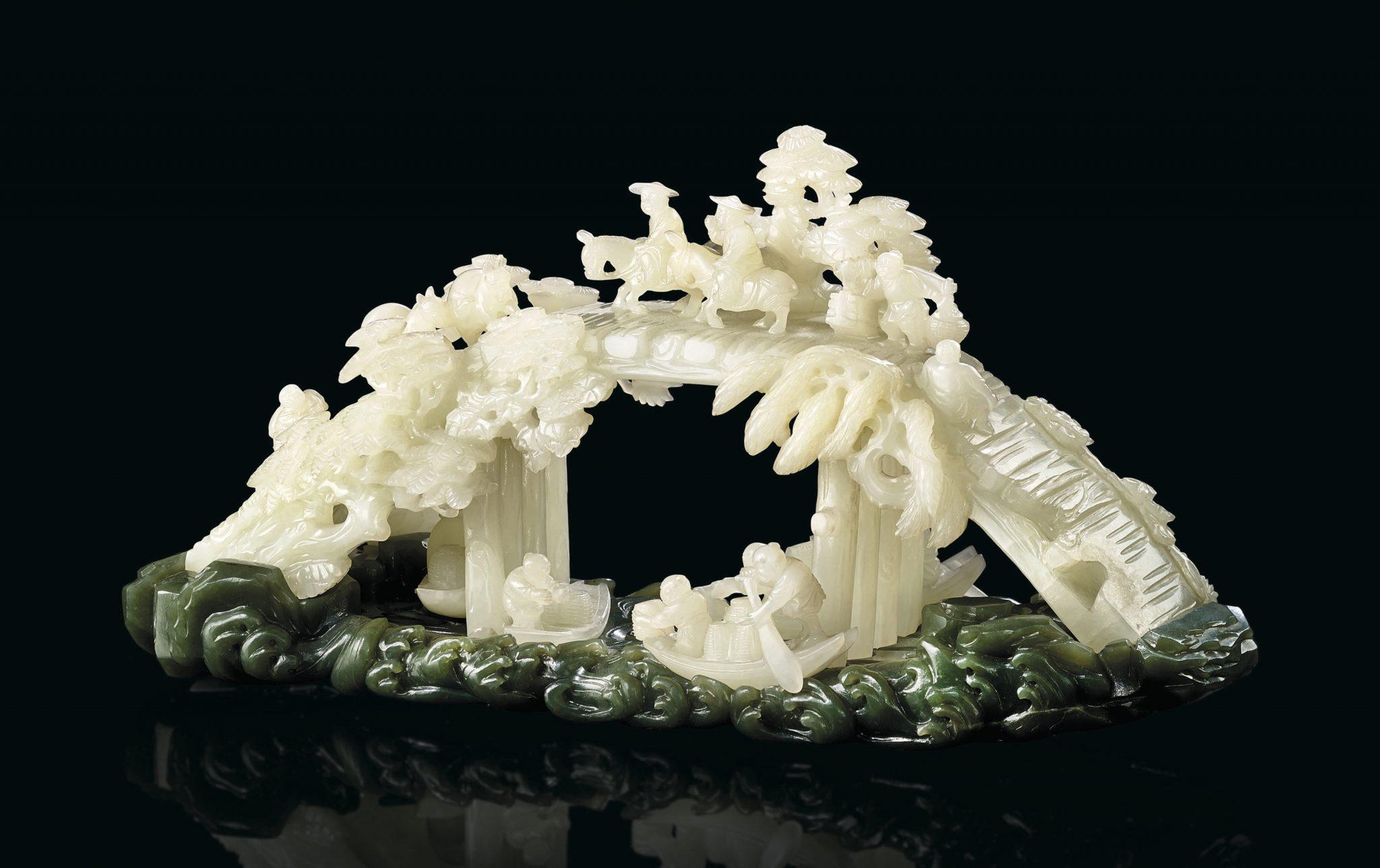 Una scultura in giada quadruplica la stima in asta da Christie's