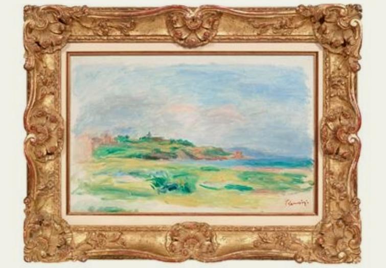Golfe, Mer, Falaises Vertes, l'opera di Pierre-Auguste Renoir rubata a Vienna (courtesy Dorotheum)