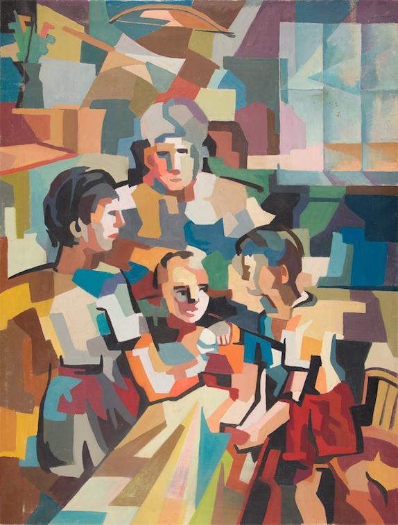 Hafidh Al-Droubi - Family 2, 1962 Museu Calouste Gulbenkian – Coleção Moderna Ph. Paulo Costa