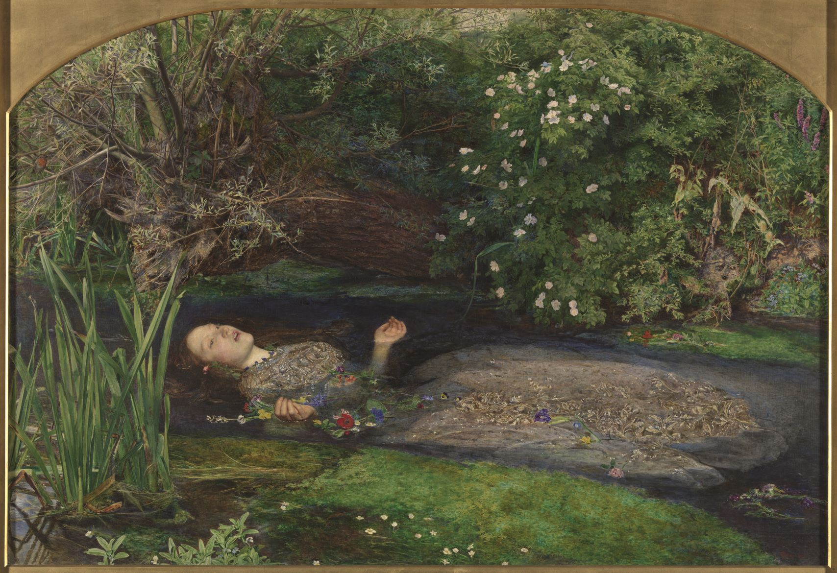 John Everett Millais, Ophelia, 1851-1852, Tate