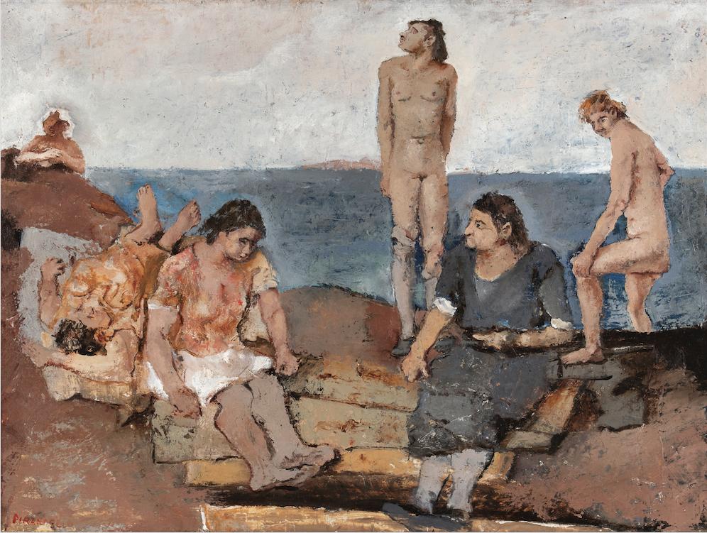FAUSTO PIRANDELLO Donne al bagno, 1930-31 Olio su tavola, 61x81 cm € 221.875 Record mondiale per l'autore