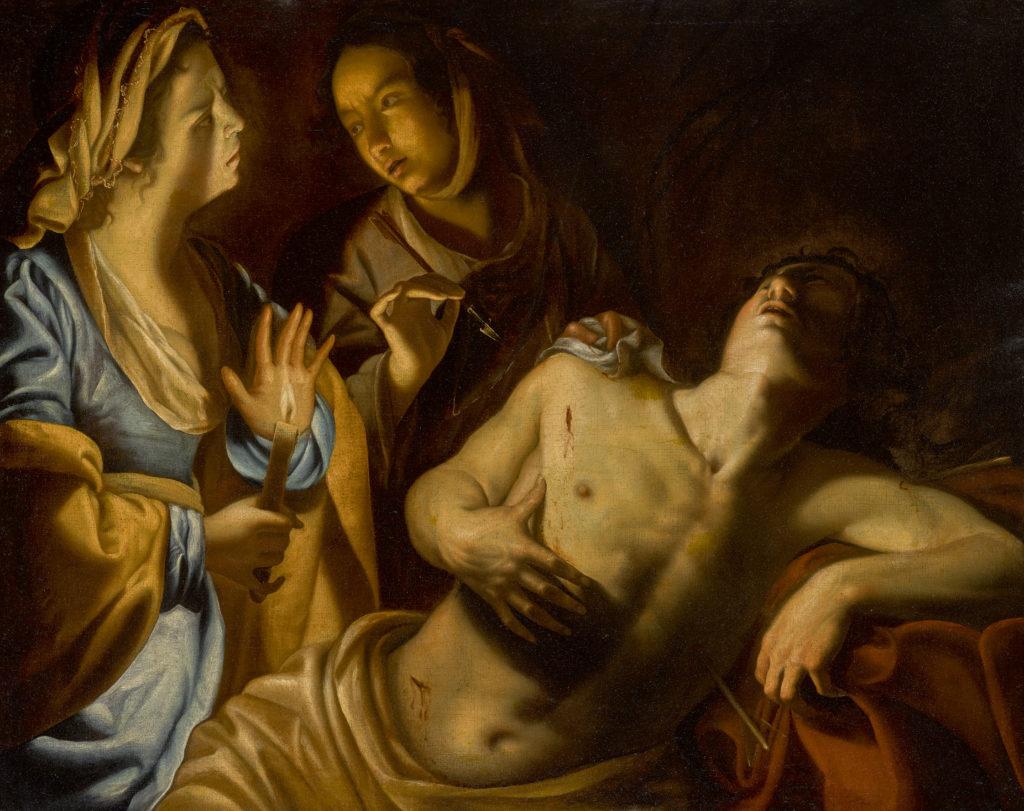 Artemisia Gentileschi – Saint Sebastian tended by Irene – EST. $400.00-600.00