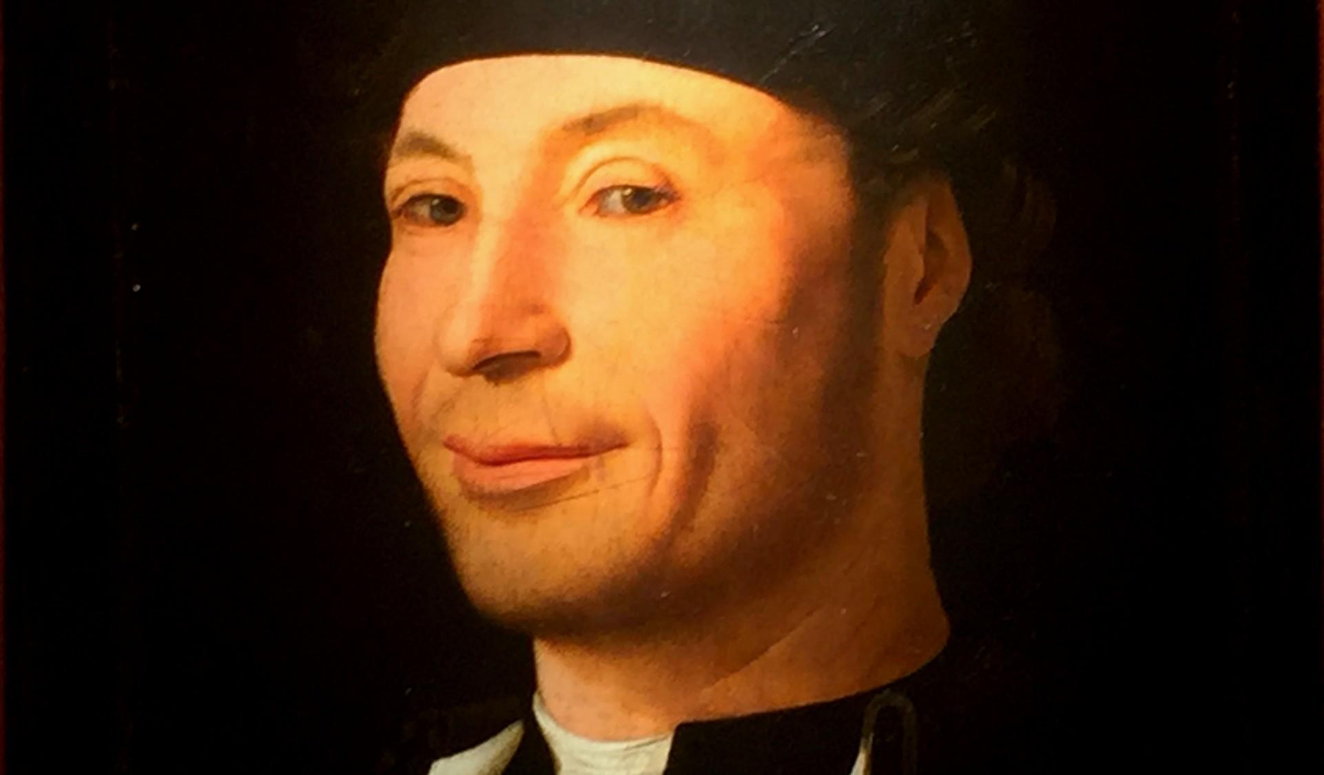 Antonello da Messina,Ritratto d'uomo, Museo Mandralisca, Cefalù (particolare)