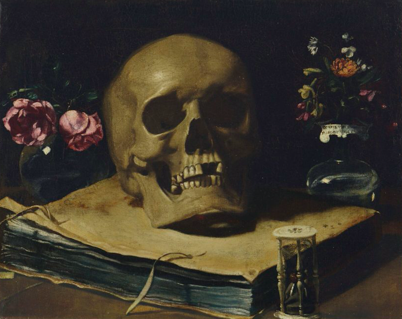 Guercino, Vanitas Still Life. Photo- courtesy of Christie's..