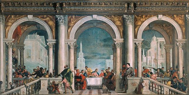 Il Convito in casa di Levi di Veronese, alle Gallerie dell'Accademia di Venezia