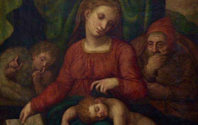 La Sacra famiglia rubata in Belgio (particolare)