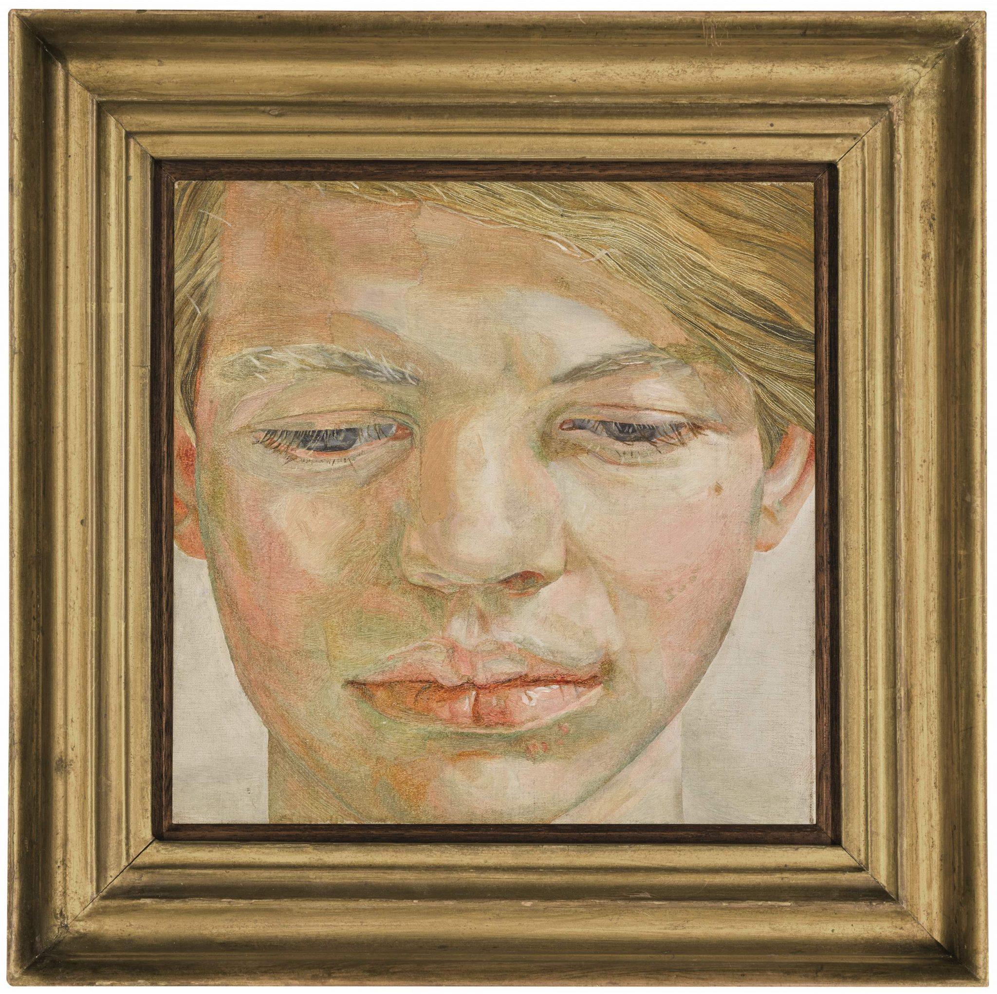 'Head of a Boy' di Lucian Freud all'asta per la prima volta. Da Sotheby's, stima £4.5-6.5 milioni