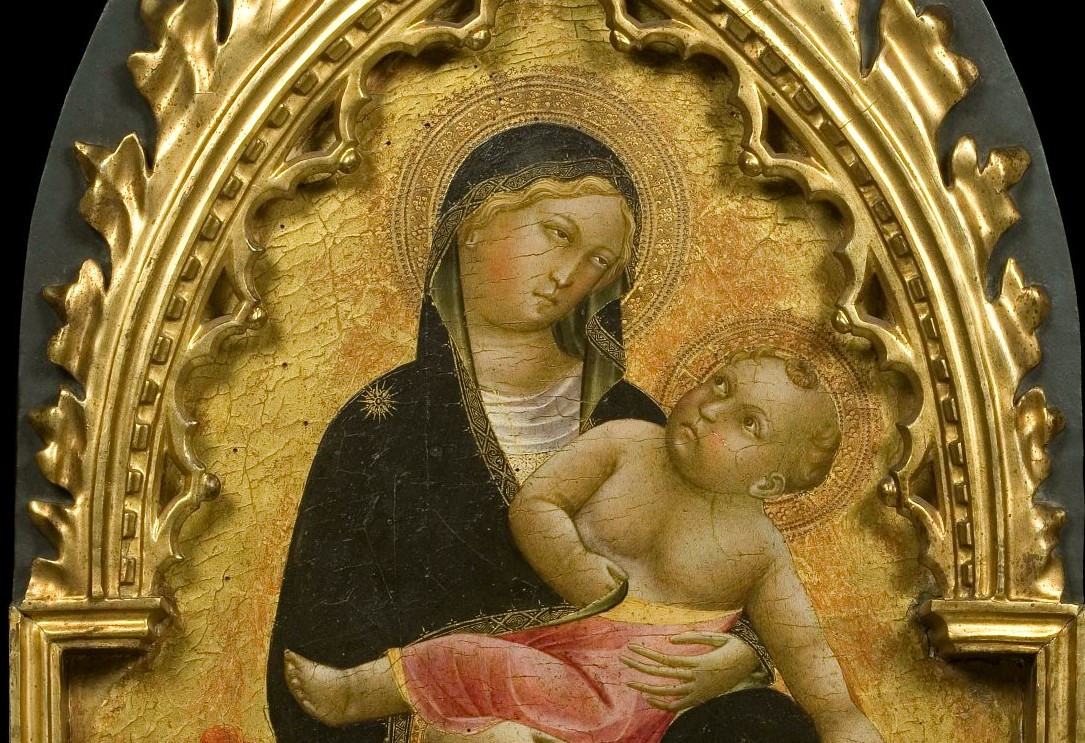 Maestro della Cappella Bracciolini (Pistoia e Firenze, 1390-1430 circa)Madonna dell'Umiltà celeste e quattro santi, particolare