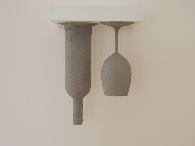 Pedro-Terán-In-mora-Morandi-2018-installazione-a-muro-25-x-25-x-35-cm