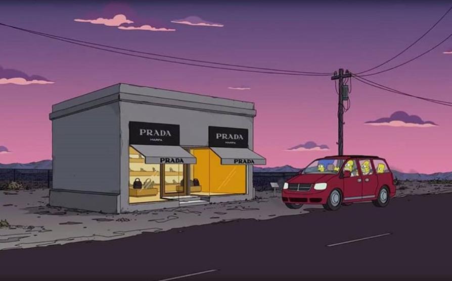 Prada Marfa sui Simpson
