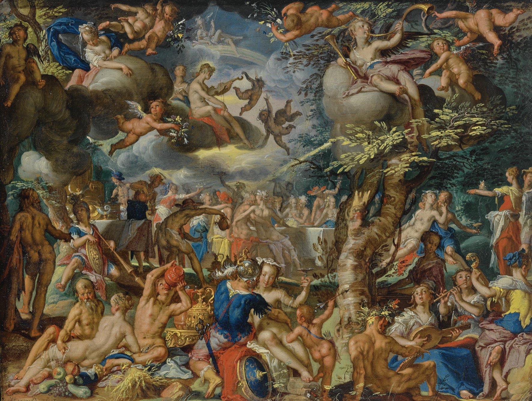 Joachim Anthonisz. Wtewael A Banquet of the Gods Estimate $5/7 million Foto: Sotheby's