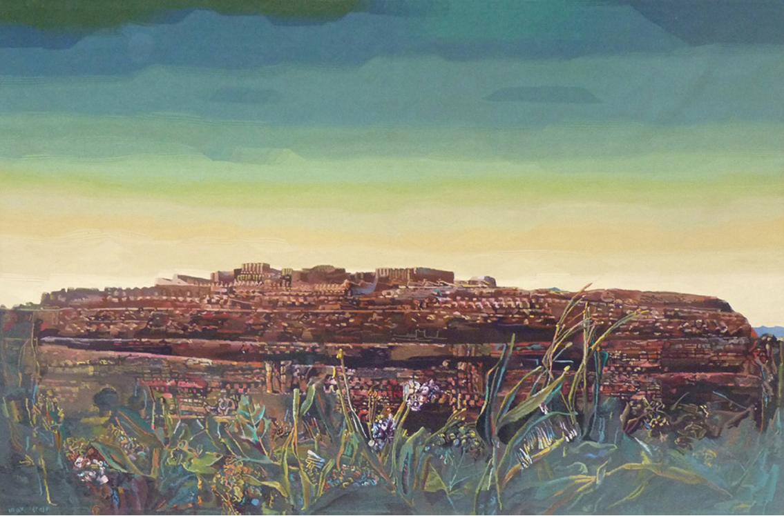 "Max Ernst (1891-1976) ""La ville entière"" Arazzo, cm. 438x284 - firmato Max Ernst Atelier Yvette Cauquil Prince (Francia)"