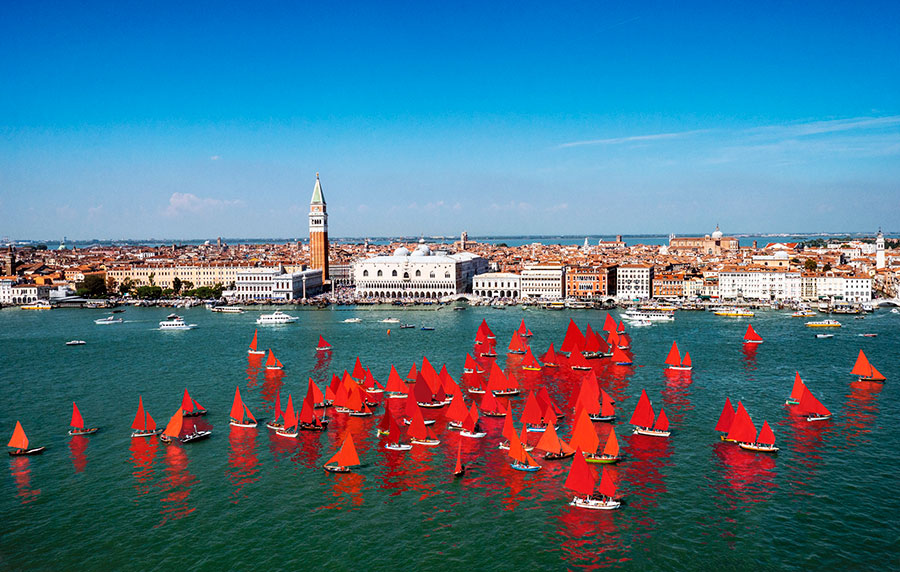 Melissa McGill, Red Regatta (Coppa del Presidente della Repubblica), 2018, artist's rendering. Courtesy: the artist and Magazzino Italian Art Foundation