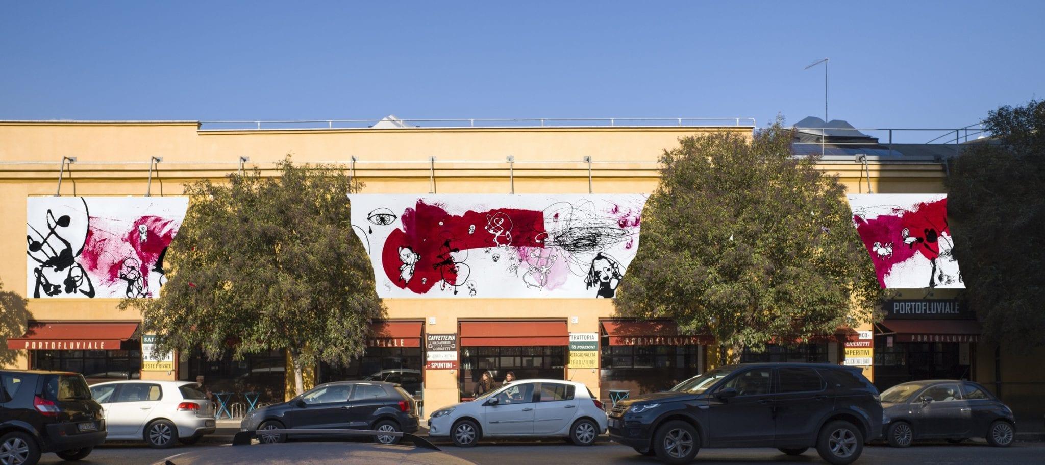 Paesaggio Sospettato. Immagini dell'installazione di Danilo Bucchi al Porto Fluviale di Roma