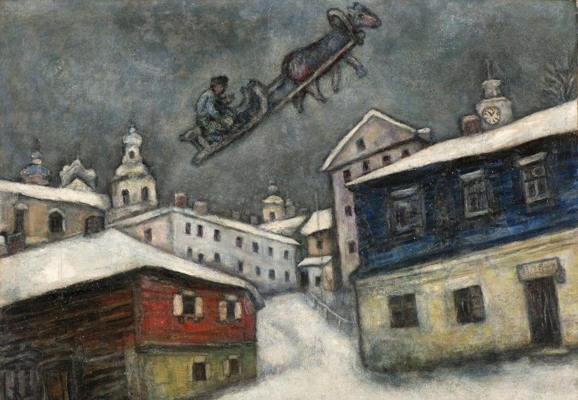 Russian village, Marc Chagall, Basilica della Pietrasanta, Napoli