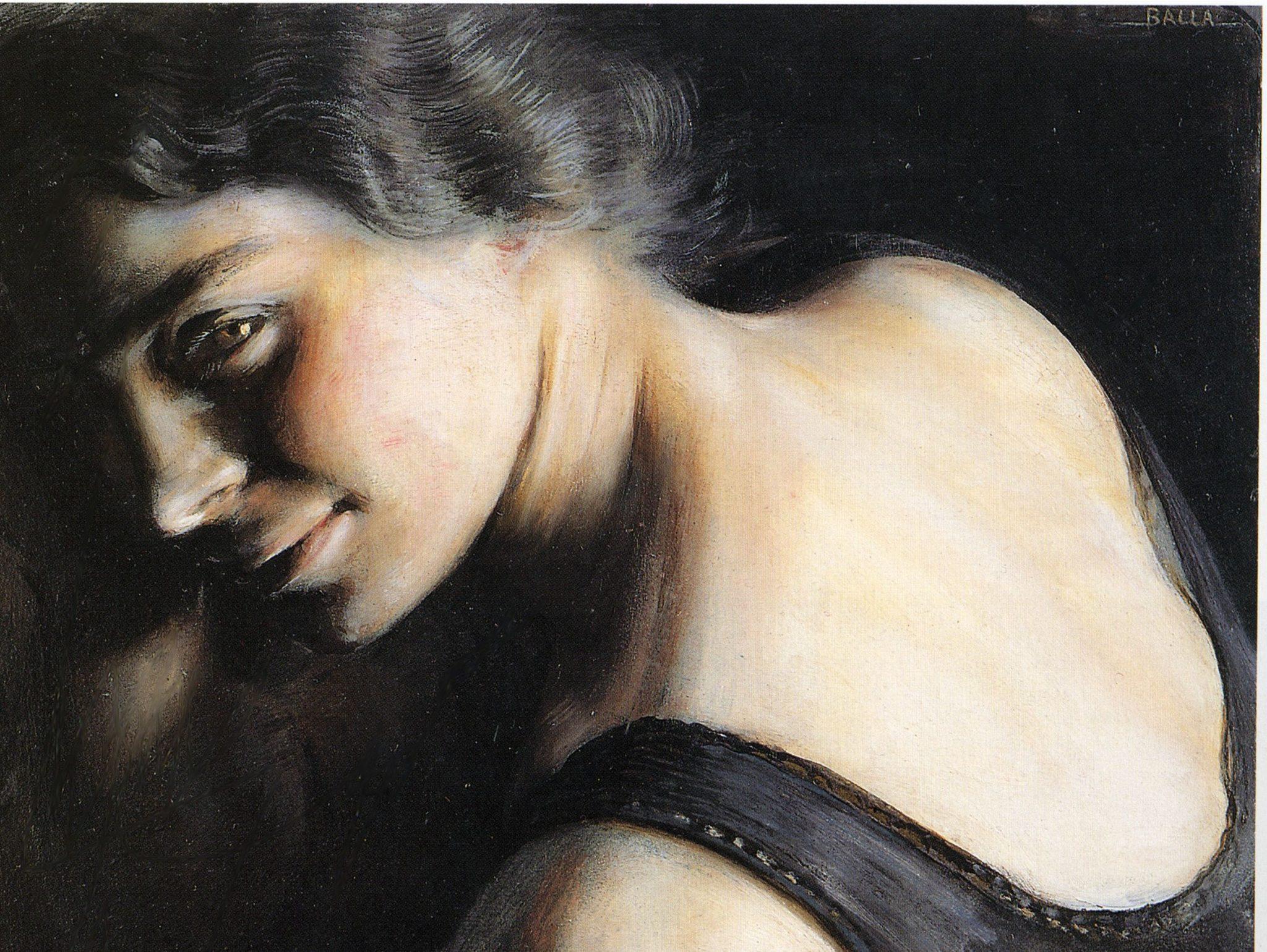 Giacomo Balla- Il Dubbio 1907-1908 Olio su carta Galleria d'Arte Moderna