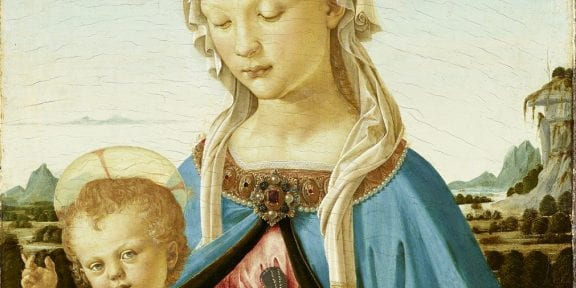 Andrea del Verrocchio, Madonna col Bambino, 1470 circa, Berlino, Gemäldegalerie, ©Staatliche Museen zu Berlin, Gemäldegalerie (particolare)
