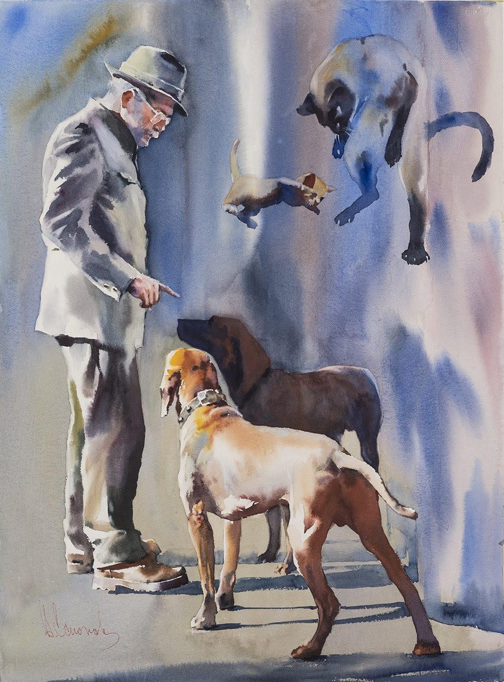 L'umanità in movimento negli acquerelli di Andrey Esionov, a Firenze