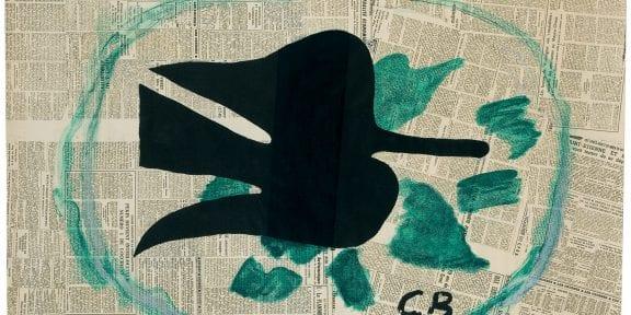 L'Oiseau dans le feuillage, 1961 litografia a colori su carta Rives, applicata su cartone, 805 x 1050 mm Prestito permanente della Sparkasse Münsterland Ost al Kunstmuseum Pablo Picasso Münster