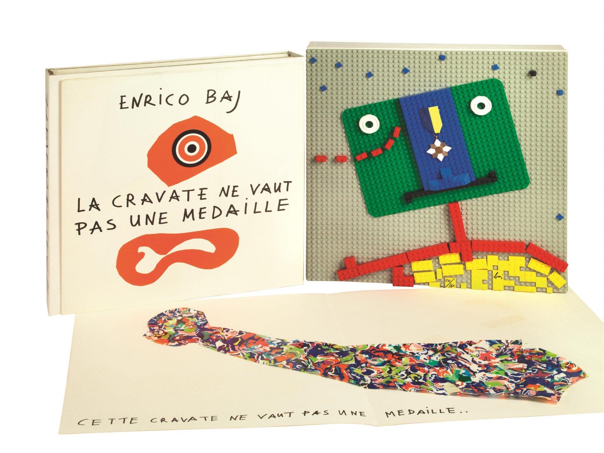 Il libro-oggetto di Enrico Baj in asta (online) da Pandolfini