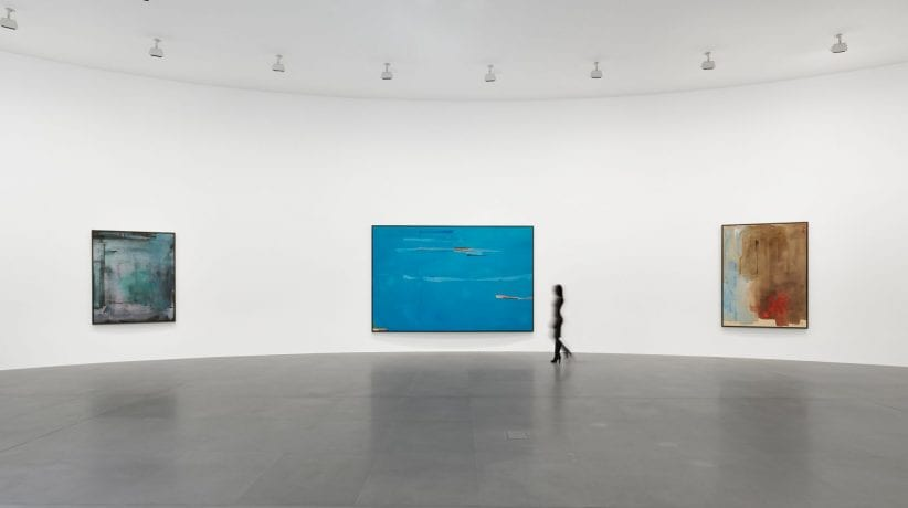 """Installation view, """"Helen Frankenthaler: Sea Change: A Decade of Paintings, 1974–1983,"""" Gagosian, Rome, March 13–July 19, 2019. Artwork © 2019 Helen Frankenthaler Foundation, Inc./Artists Rights Society (ARS), New York. Photo: Matteo D'Eletto, M3 Studio. Courtesy Gagosian"""