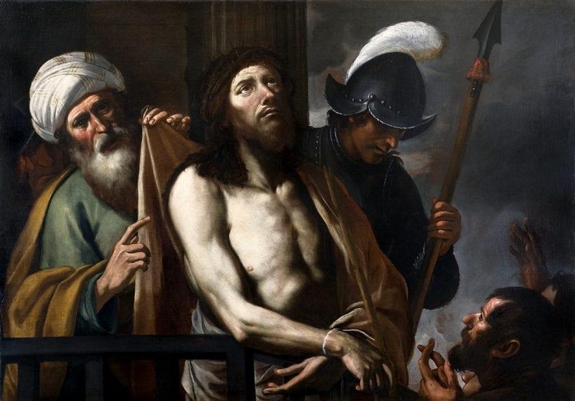 Gregorio Preti, Cristo mostrato al popolo, 1645-1655, Torino, collezione privata, olio su tela