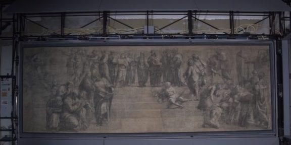 Il cartone preparatorio della Scuola di Atene di Raffaello, alla Biblioteca Ambrosiana